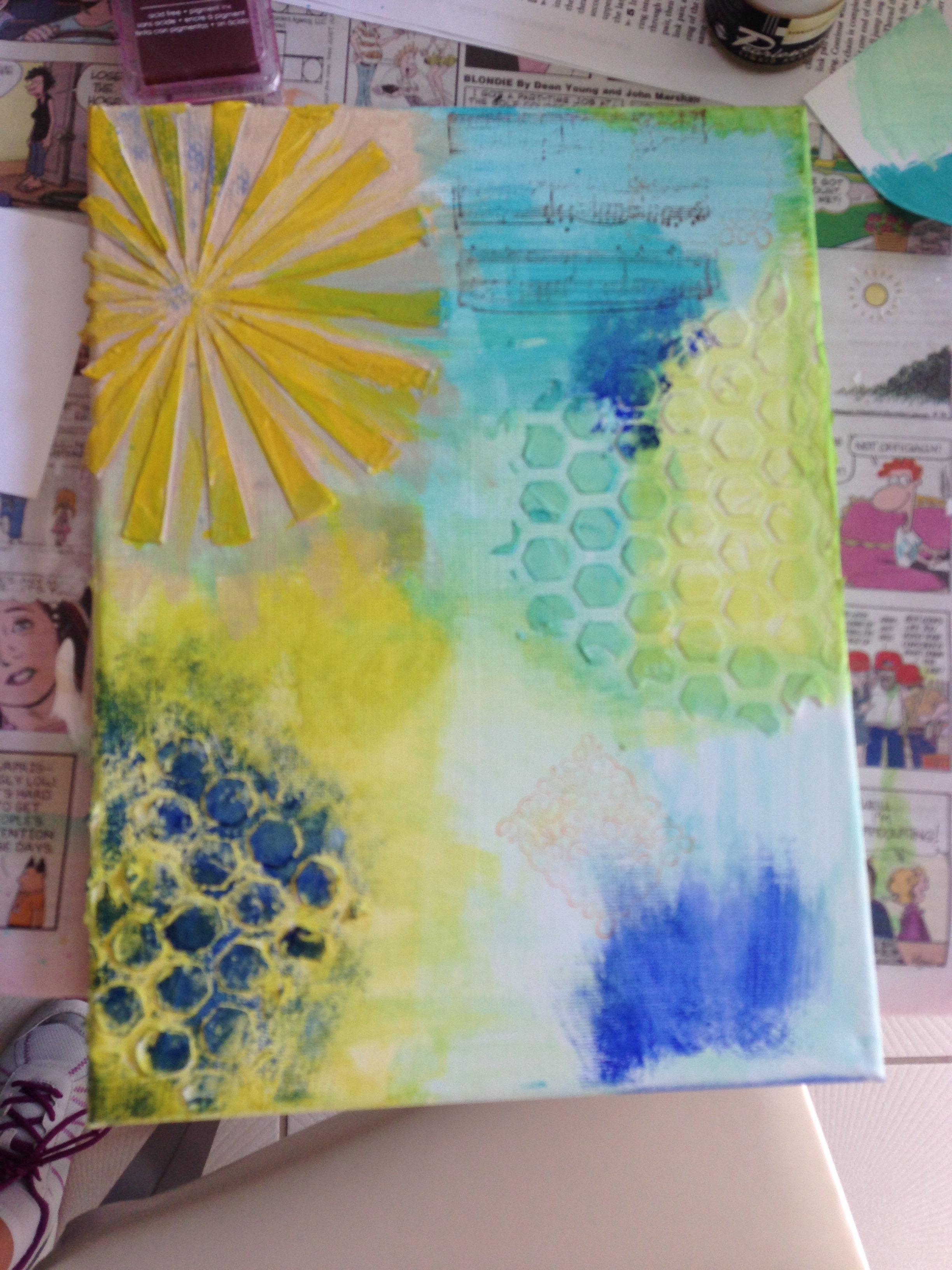 beginning of mixed media art