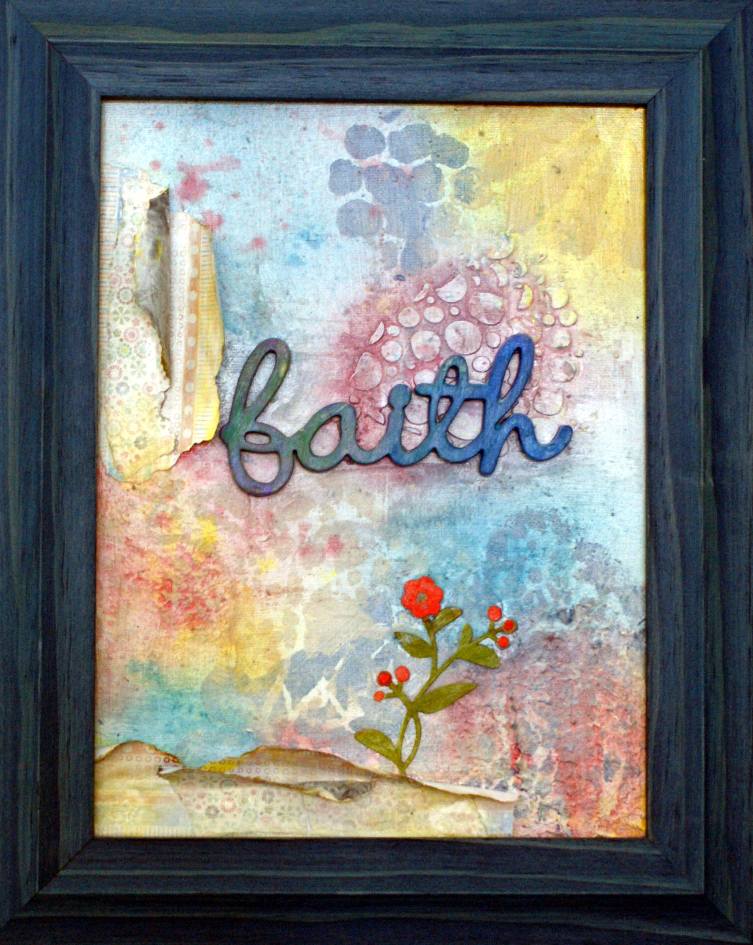 detail view faith painting