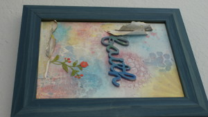 Framed faith painting