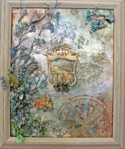 Mixed Media Art Canvas Uncaged