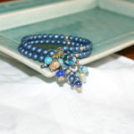 Blue bracelet with dangles
