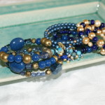 Blue Handmade Beaded Bracelets