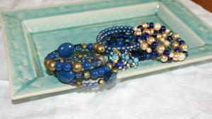 Blue Handmade Beaded Bracelets