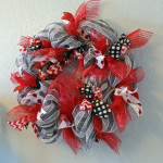 Ladybug black, red, and white wreath
