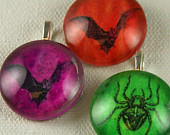 Bat and Beetle Pendants by Frazzled Finch